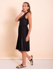 Alef Alef | אלף אלף - בגדי מעצבים | שמלת Ashley שחור נצנץ