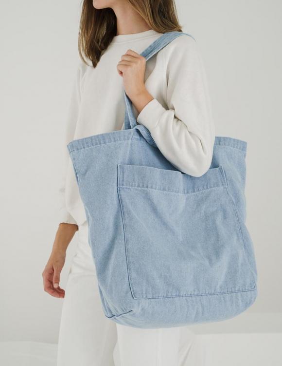 Alef Alef | אלף אלף - בגדי מעצבים | תיק צד ג'ינס Baggu כחול