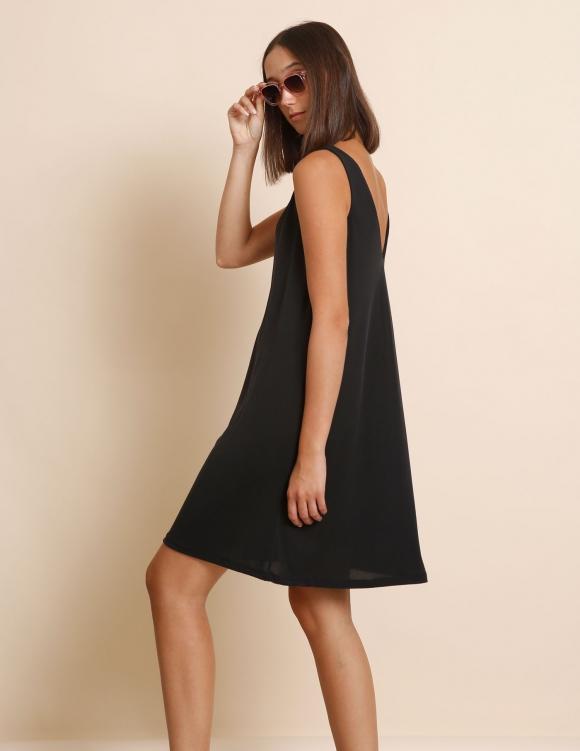 Alef Alef | אלף אלף - בגדי מעצבים | שמלת Kourtney שחור פחם