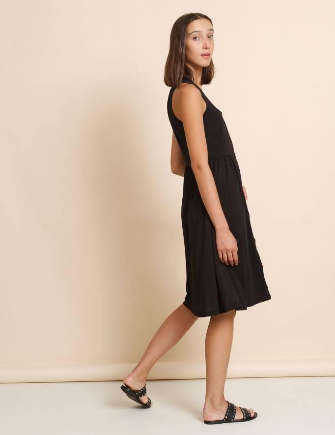 Alef Alef   אלף אלף - בגדי מעצבים   שמלת Ashley שחור