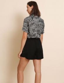 Alef Alef | אלף אלף - בגדי מעצבים | מכנסי Berry שחור נצנץ