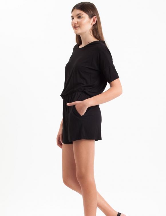 Alef Alef | אלף אלף - בגדי מעצבים | Sample#68 | אוברול Link שחור