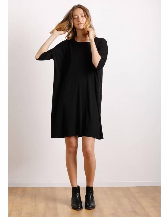 Alef Alef | אלף אלף - בגדי מעצבים | Sample#32 | שמלת Porto שחור