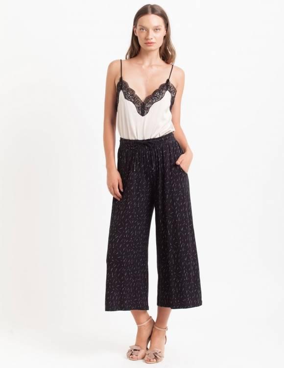 Alef Alef | אלף אלף - בגדי מעצבים | Sample#72 | מכנסי Baskin שחור פסים צבע