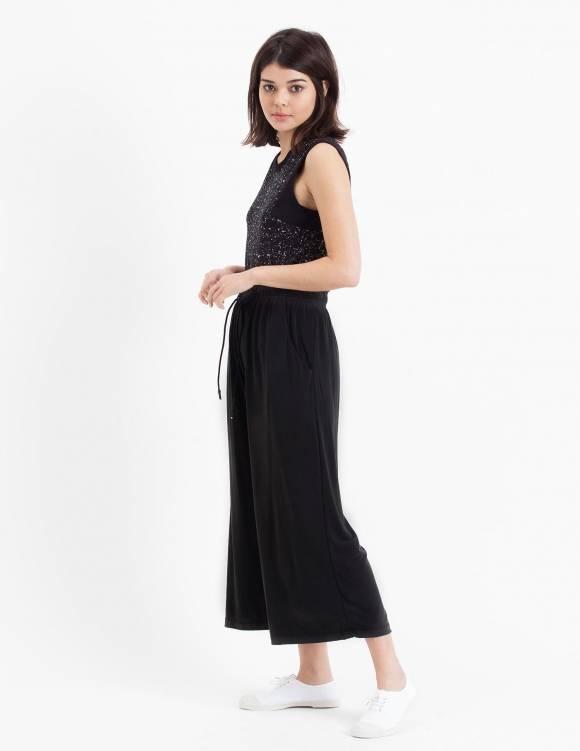 Alef Alef   אלף אלף - בגדי מעצבים   Sample#73   מכנסי Baskin שחור