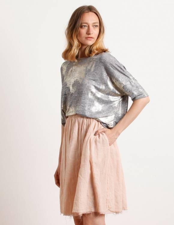 Alef Alef   אלף אלף - בגדי מעצבים   Sample#80  חצאית סיינה פודרה