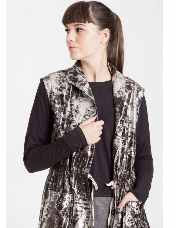 Alef Alef | אלף אלף - בגדי מעצבים | Sample#66 | וסט Rani מבריק