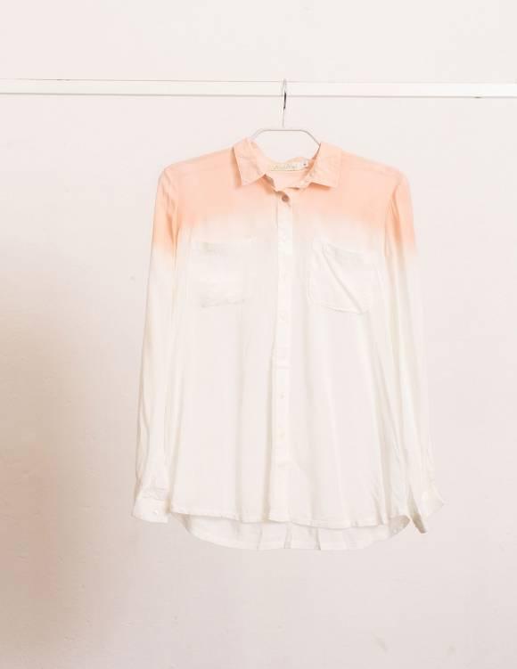 Alef Alef | אלף אלף - בגדי מעצבים | Sample#106 | חולצה מכופתרת לבן- ורוד