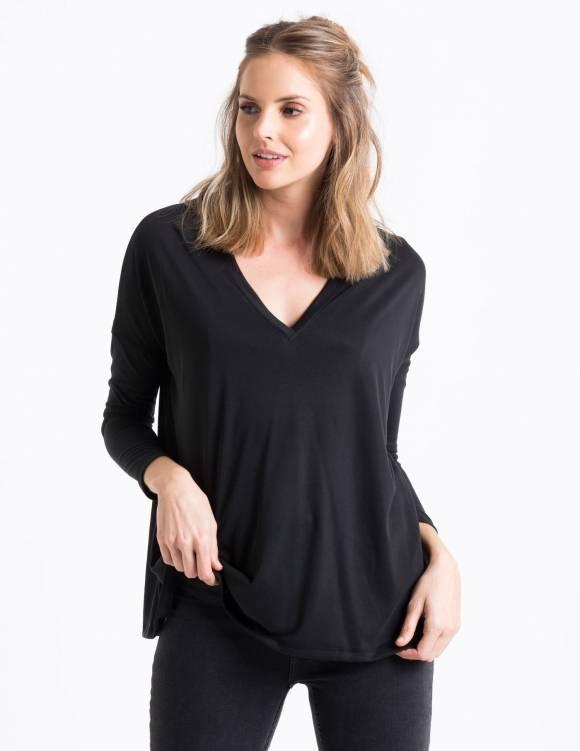 Alef Alef | אלף אלף - בגדי מעצבים | Sample#90 | חולצת שחור פחם