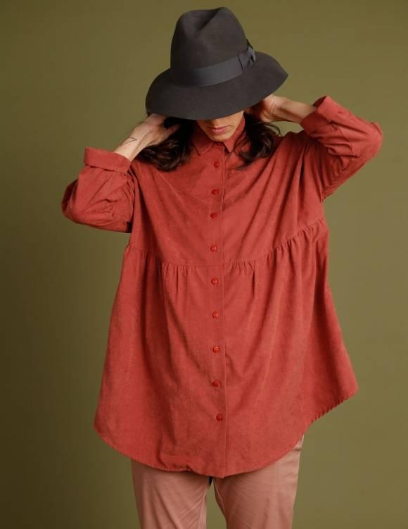 Alef Alef | אלף אלף - בגדי מעצבים | חולצת Ema | חמרה