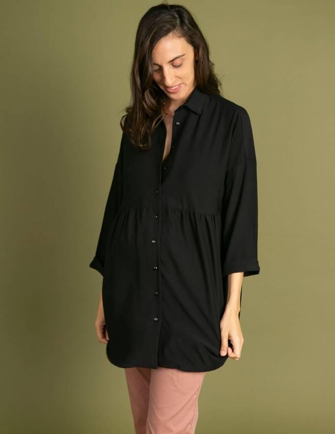 Alef Alef | אלף אלף - בגדי מעצבים | חולצת Ema | שחור