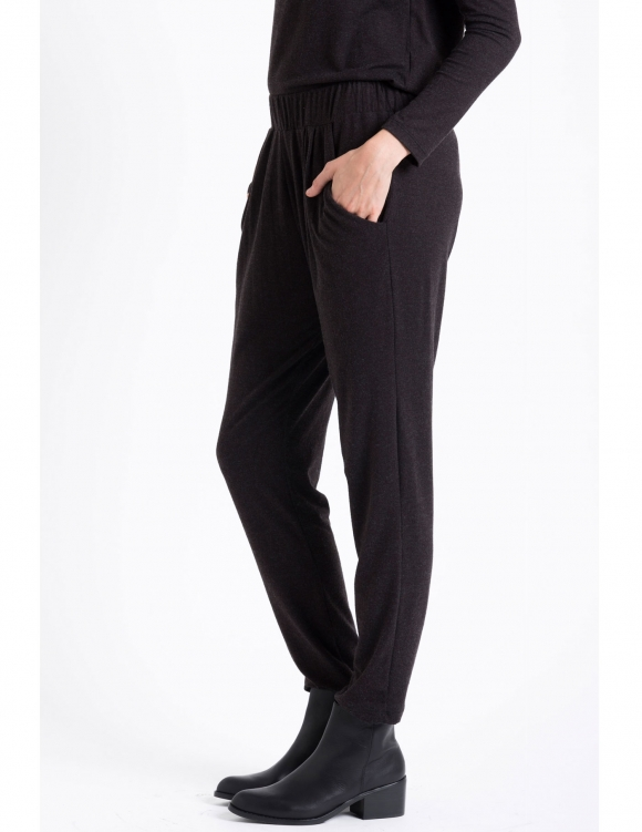 Alef Alef   אלף אלף - בגדי מעצבים   Sample#77   מכנסי Keep It שחור