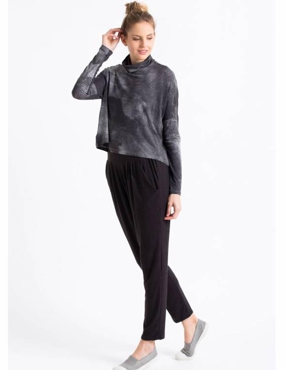 Alef Alef   אלף אלף - בגדי מעצבים   Sample#75   מכנסי Keep It אפור כהה