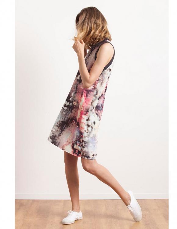 Alef Alef | אלף אלף - בגדי מעצבים | Sample#49 | שמלת Memphis הדפס צבעוני