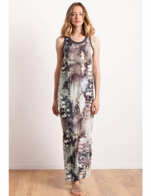 Alef Alef | אלף אלף - בגדי מעצבים | Sample#5 | שמלת מקסי הדפס צבעוני