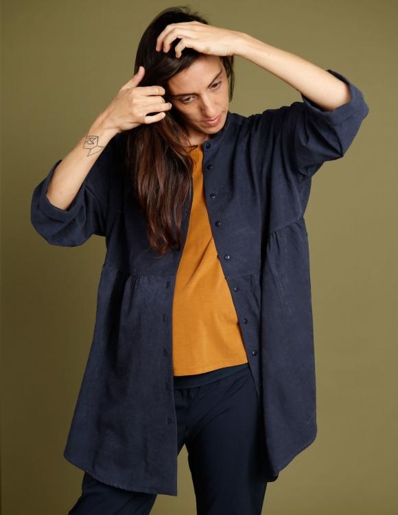 Alef Alef | אלף אלף - בגדי מעצבים | חולצת Ema | נייבי