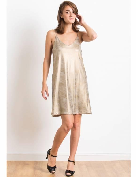 Alef Alef | אלף אלף - בגדי מעצבים | Sample#51 | שמלת Indiana זהב