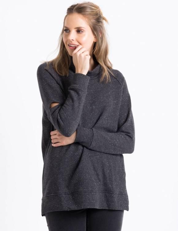 Alef Alef   אלף אלף - בגדי מעצבים   Sample#83   סוודר Y-M אפור