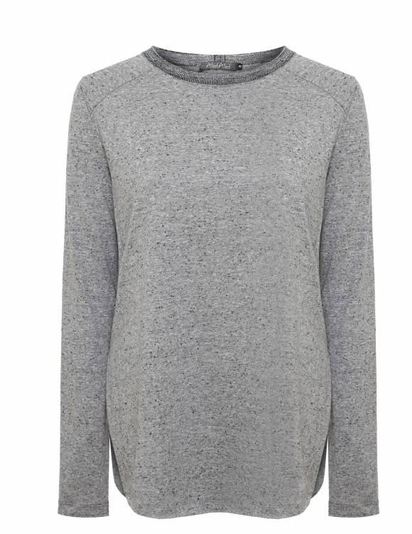 Alef Alef | אלף אלף - בגדי מעצבים | Sample#109 | חולצת סטורי אפור כהה