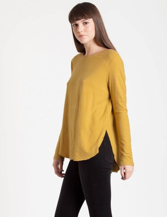 Alef Alef   אלף אלף - בגדי מעצבים   Sample#88   חולצת סטאד חרדל