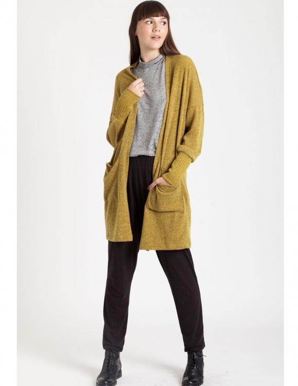 Alef Alef | אלף אלף - בגדי מעצבים | Sample#61 | עליונית Soft חרדל