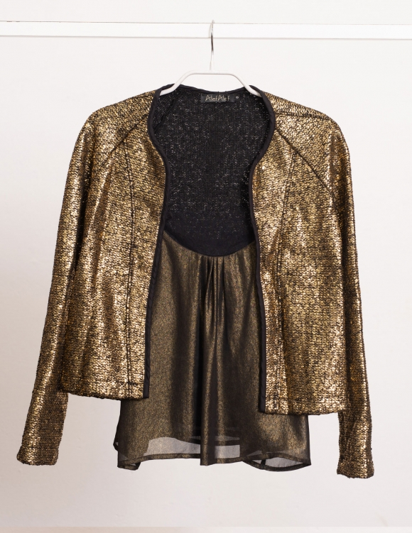 Alef Alef | אלף אלף - בגדי מעצבים | Sample#55 | ג'קט שחור זהב