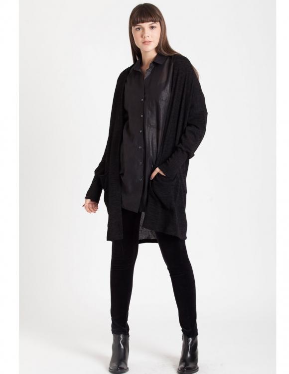 Alef Alef   אלף אלף - בגדי מעצבים   Sample#62   עליונית Soft אפור כהה