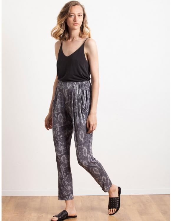 Alef Alef | אלף אלף - בגדי מעצבים | Sample#77 | מכנסי Keep It הדפס אפור
