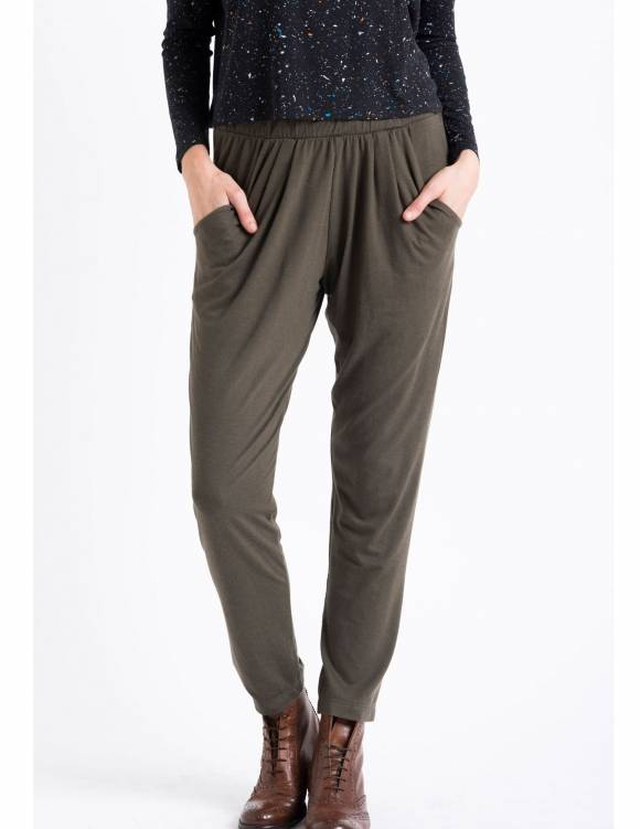 Alef Alef | אלף אלף - בגדי מעצבים | Sample#76 | מכנסי Keep It זית
