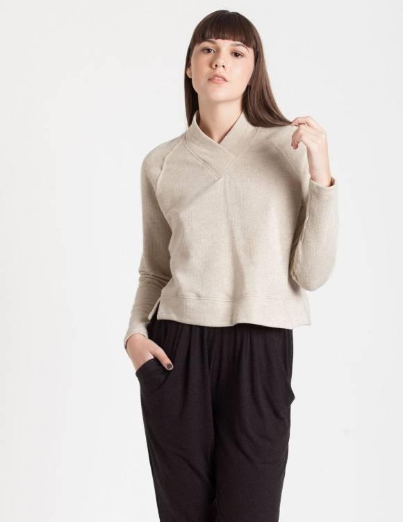 Alef Alef | אלף אלף - בגדי מעצבים | Sample#92 | סוודר Heart שמנת /זהב