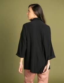 Alef Alef   אלף אלף - בגדי מעצבים   חולצת Ema   שחור