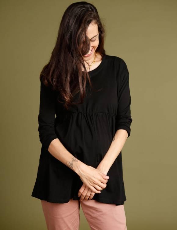 Alef Alef | אלף אלף - בגדי מעצבים | חולצת Ina| שחור