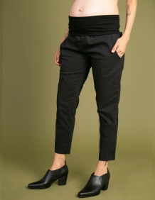 Alef Alef | אלף אלף - בגדי מעצבים | מכנסי Mor | שחור