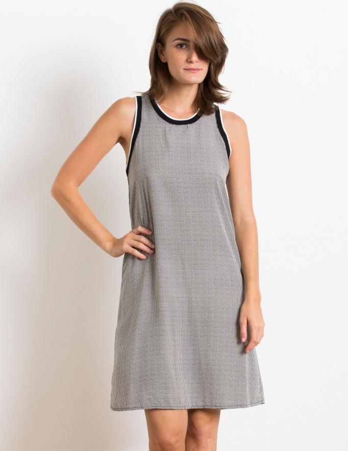 Alef Alef   אלף אלף - בגדי מעצבים   Sample#50   שמלת Memphis שחור לבן