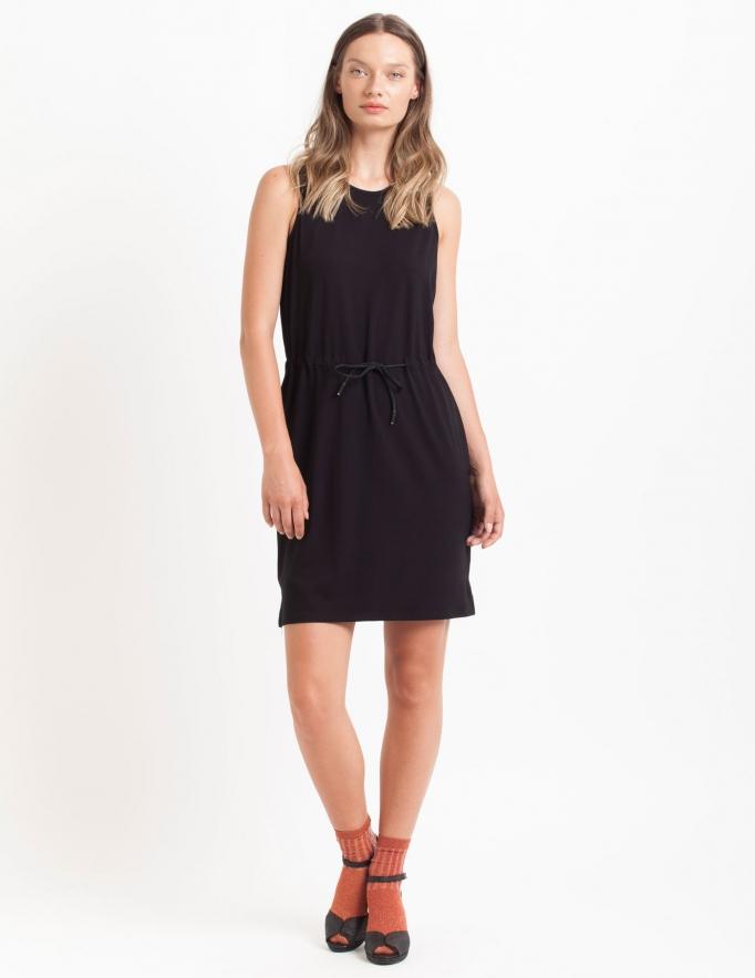 Alef Alef | אלף אלף - בגדי מעצבים | Sample#42 | שמלת Mian שחור חלק