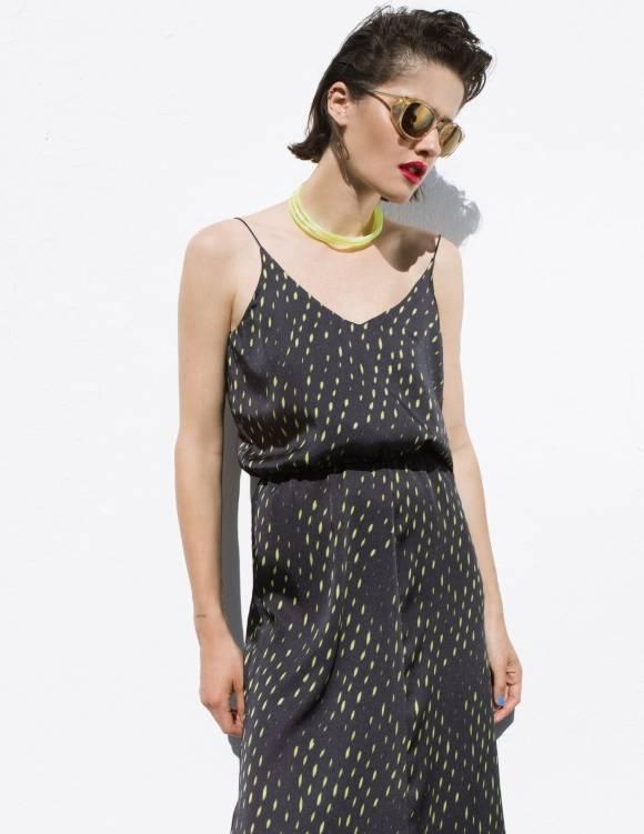 Alef Alef | אלף אלף - בגדי מעצבים | Sample#6 | שמלת מקסי עם כיווץ במותן