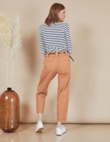 Alef Alef   אלף אלף - בגדי מעצבים   מכנסי Curie קאמל