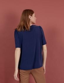 Alef Alef   אלף אלף - בגדי מעצבים   חולצת Diana נייבי