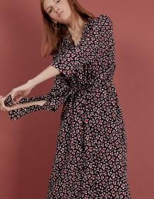 Alef Alef | אלף אלף - בגדי מעצבים | שמלת Rosa שחור/לבן/אדום