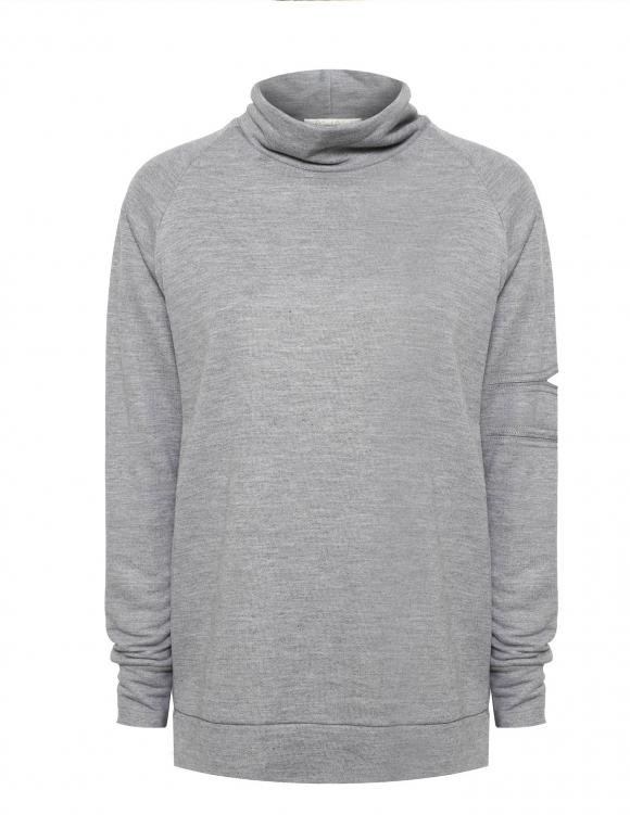Alef Alef | אלף אלף - בגדי מעצבים | Sample | סווטשירט קופר אפור בהיר