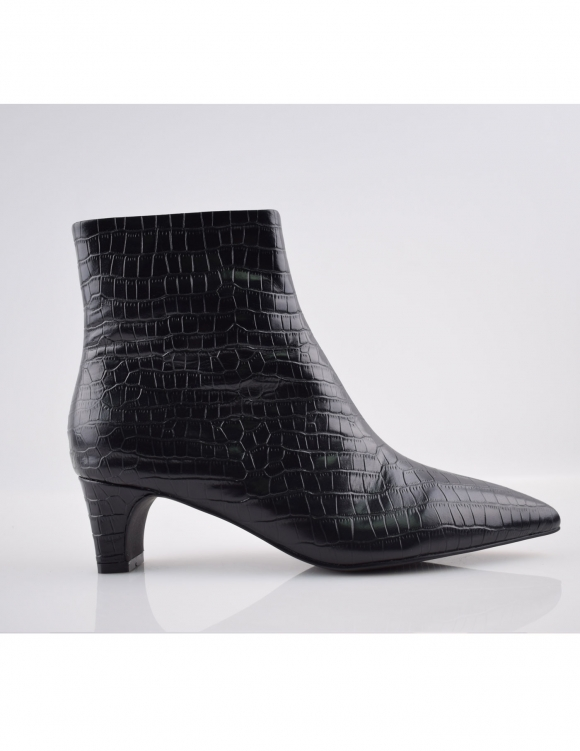 Alef Alef | אלף אלף - בגדי מעצבים | מגפי עור Scottie |  שחור קרוקודיל
