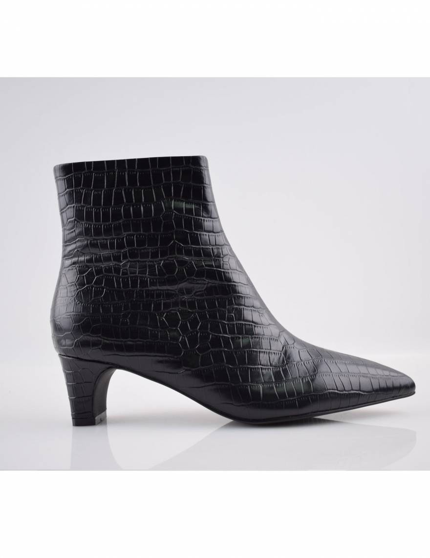 Alef Alef   אלף אלף - בגדי מעצבים   מגפי עור Scottie    שחור קרוקודיל