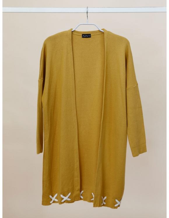 Alef Alef | אלף אלף - בגדי מעצבים | Sample| ז'קט Clementine חרדל
