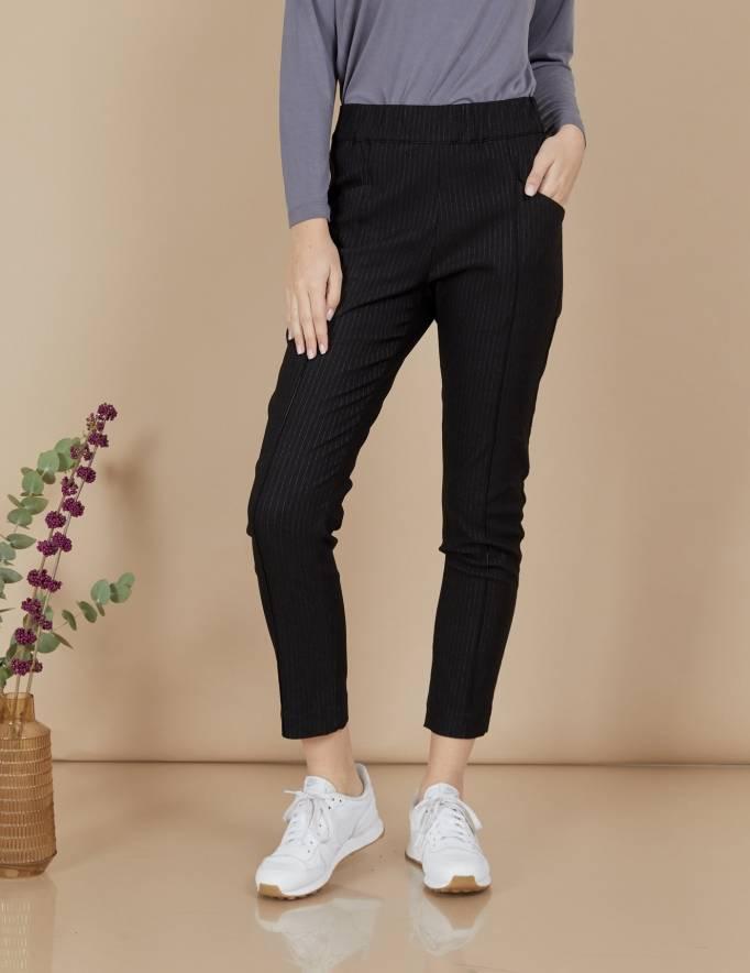 Alef Alef | אלף אלף - בגדי מעצבים | מכנסי Coco | שחור פסים