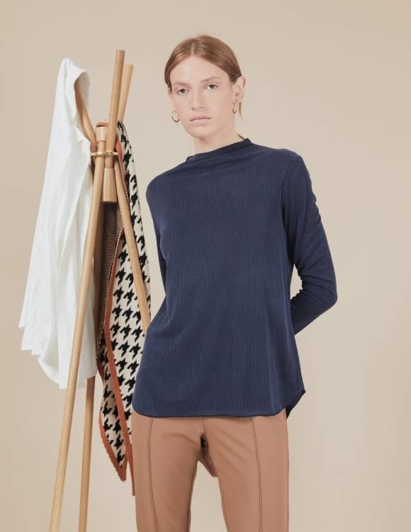 Alef Alef   אלף אלף - בגדי מעצבים   חולצת Susan   נייבי פסים