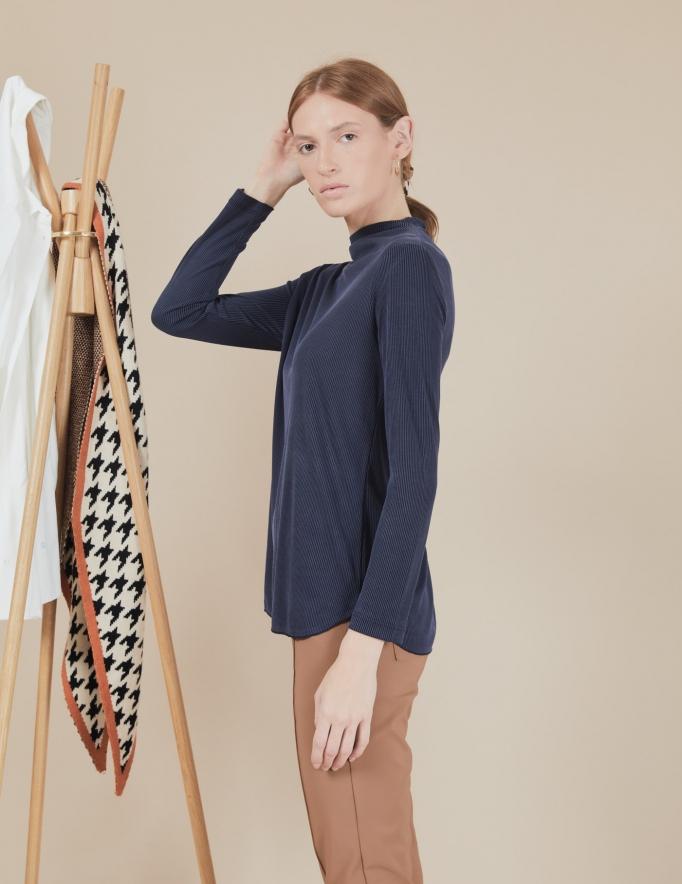 Alef Alef | אלף אלף - בגדי מעצבים | חולצת Susan | נייבי פסים