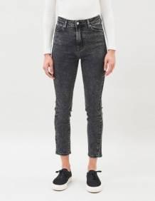 Alef Alef   אלף אלף - בגדי מעצבים   ג'ינס Dr. Denim Cropa Cabana שחור משופשף