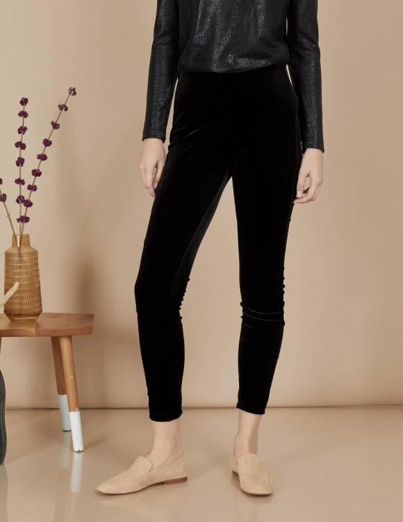 Alef Alef | אלף אלף - בגדי מעצבים | מכנסי Ang | שחור קטיפה