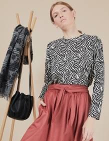 Alef Alef   אלף אלף - בגדי מעצבים   חצאית Florence פסים בורדו