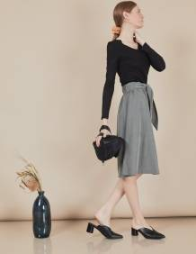 Alef Alef | אלף אלף - בגדי מעצבים | חצאית Florence זית